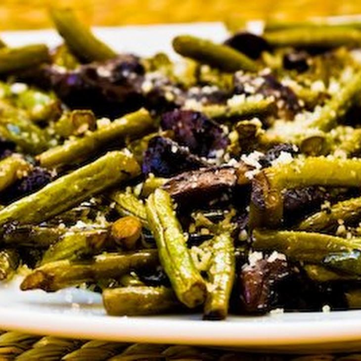 Roasted Green Beans with Mushrooms, Balsamic, & replace parmesan in ...