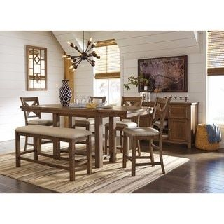 Shop for Signature Design by Ashley Moriville Beige Dining Set. Get free delivery at Overstock.com - Your Online Furniture Shop! Get 5% in rewards with Club O! - 21139564
