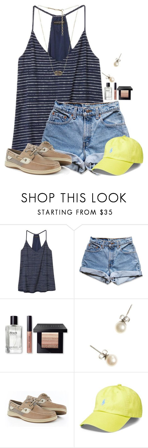 """""""Who watches The Food Network Star?"""" by flroasburn on Polyvore featuring Banana Republic, Levi's, Bobbi Brown Cosmetics, J.Crew, Sperry, Polo Ralph Lauren and Kendra Scott"""