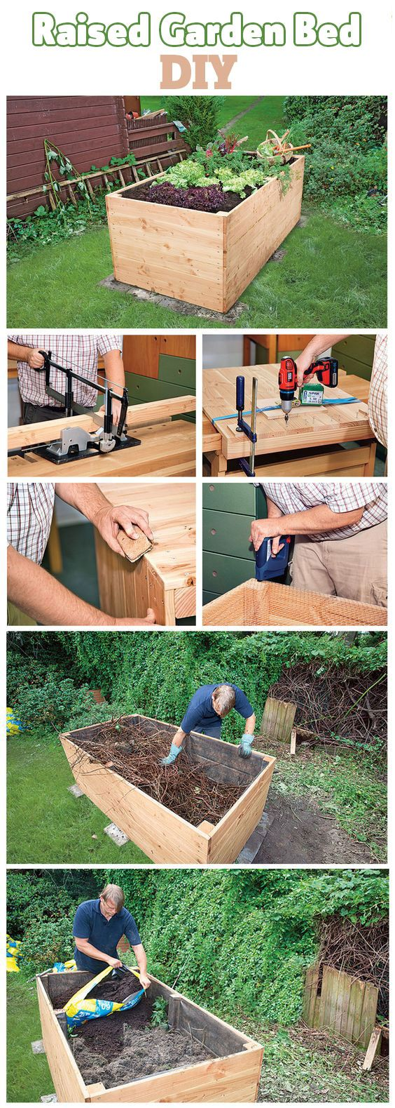A raised bed for the garden is a nice way to plant vegetables and herbs. You…