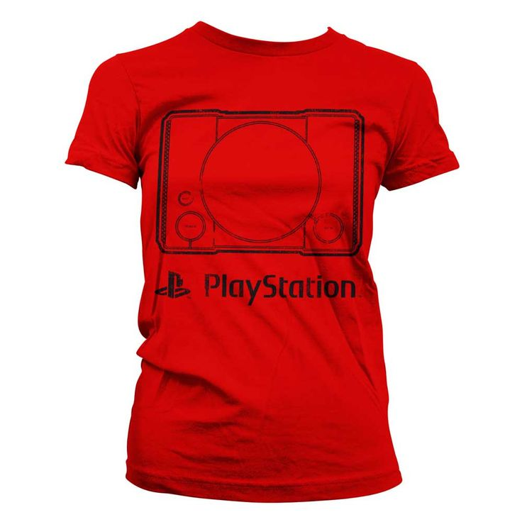 Hybris PlayStation - Console dames T-shirt rood - Games merchandise |