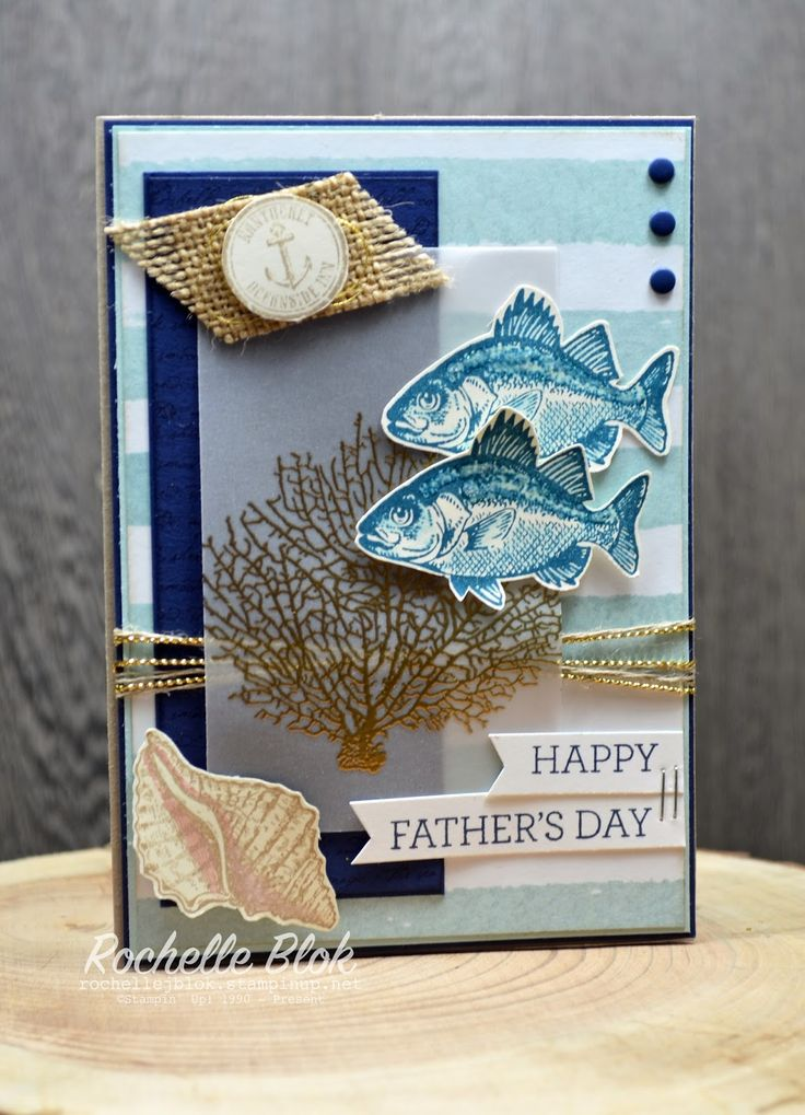 The Stamping Blok: By The Tide Father's Day - Rochelle Blok #bythetide #fathersdaycard #stampinup