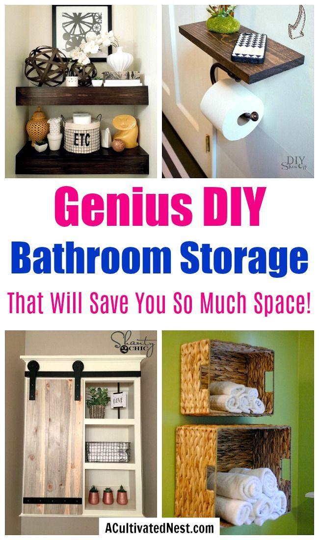 Space Saving Diy Bathroom Storage Ideas Diy Bathroom Storage Small Bathroom Diy Bathroom Organization Diy