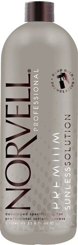 Norvell Dark Premium Airbrush Spray Tan Solution, 34 oz