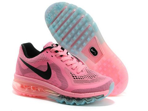 nike air max 2014 running shoes on sale blue pink