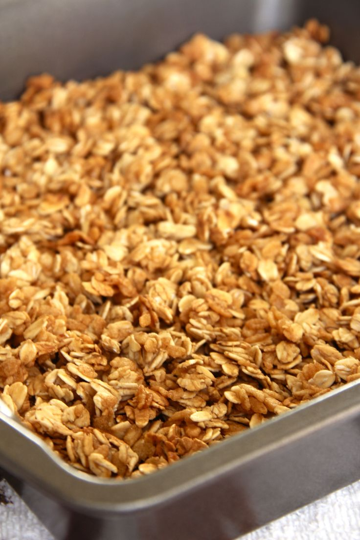 simple lightened granola