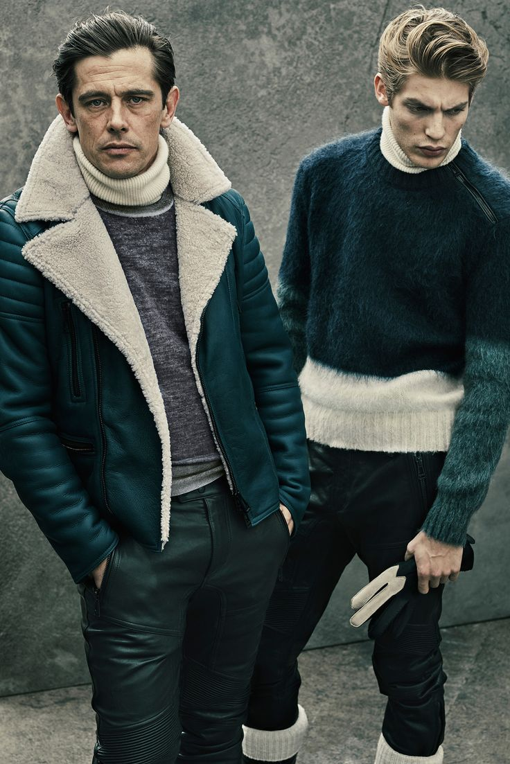 Belstaff Fall 2015 Menswear - Collection - Gallery - Style.com // Shearling, Shades of Greem
