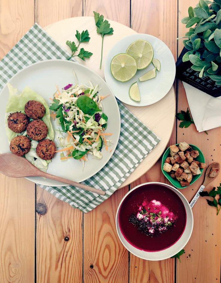 #cremadesfecla si #salata cu #sos #tahini