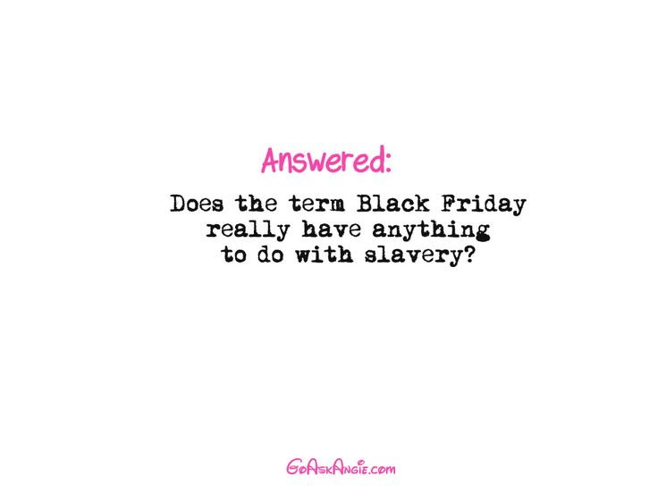 "Okay, so let's talk about the whole ""Black Friday is associated with slavery"" issue. Before we get started here, let  me just tell you that is false. But before we get into that part, let's define Black Friday and what it actually means. Many people want to know, ""What is Black Friday?"" We know it […]"