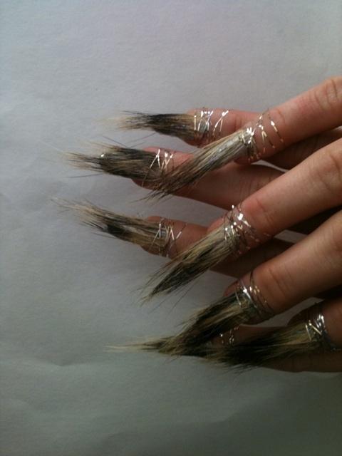 WTF Nail New: Whoa! Fur Nails by @jennahipp for @UVS music video with @SarahHudson