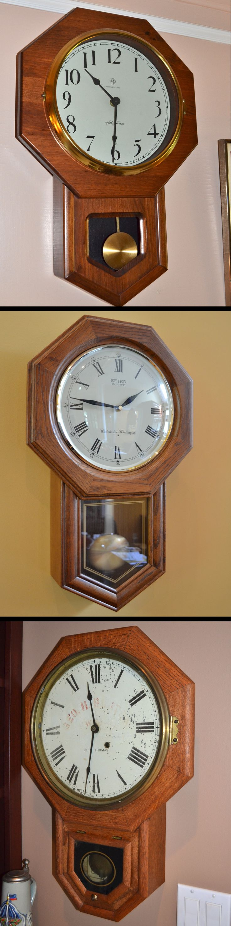 some designs never go out of style like this octagonal oak pendulum clock - Feldstein Kaminsimse
