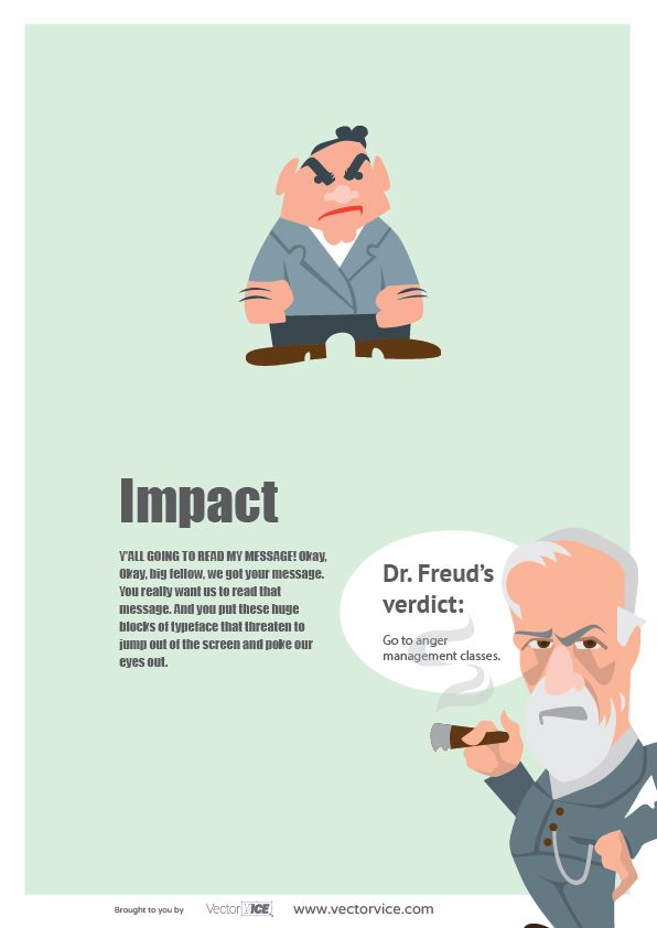 Impact Font Infographic Dr. Freud #Impact #Font #Infographic #inspiration #designer #design