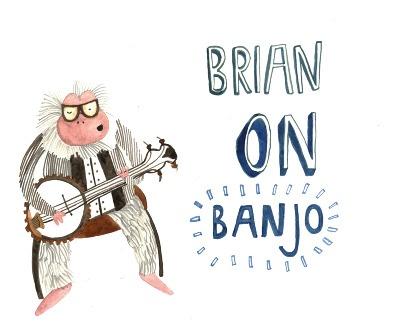 Jazz monkeys - Elora Taylor illustration