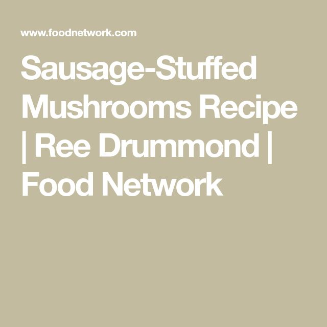 Sausages stuffed with mushrooms   – Side Dishes