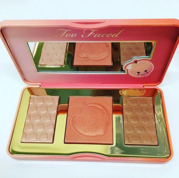 Sneak Peek: Too Faced Sweet Peach Glow Highlighter Palette for Spring 2017 #makeup