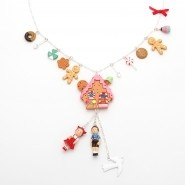 Gingerbread house and candie charms