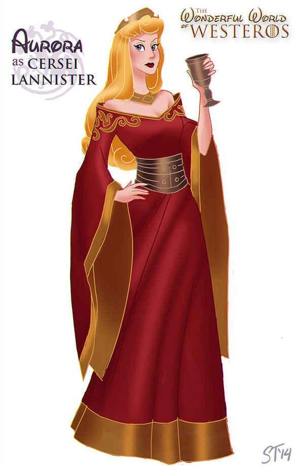 Sleeping Beauty; Disney Princesses as the Game of Thrones ladies! Love it!