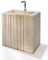 Vasque à poser / rectangulaire / en pierre naturelle