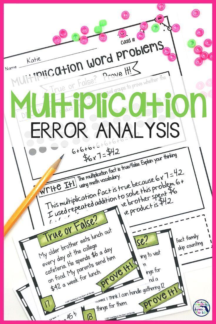 Multiplication Word Problems - Error Analysis | Teaching