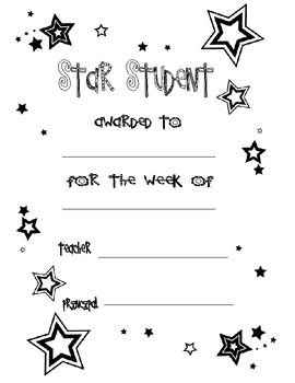 Star Student Awards & Certificates for Students