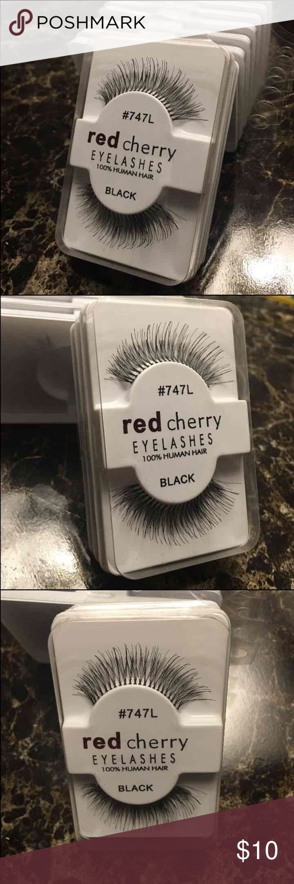 3 Pair Red Cherry False Lashes 100% Human Hair False Lashes 3 Pair $10 4 Pair $11 5 Pair $12 Free Shipping Will mix and match Kylie Jenner look Makeup False Eyelashes