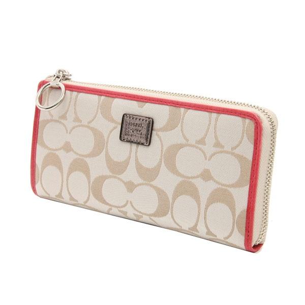 COACH poppy signature slimzip wallet (コーチ ポピー シグネチャー スリムジップ ラウンドファスナー長財布) #46438 SVA6Y