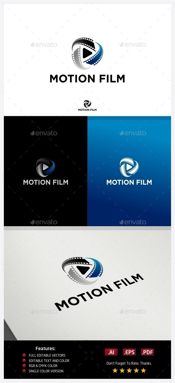 Motion Film  Logo Design Template Vector #logotype Download it here: http://graphicriver.net/item/motion-film-logo/10224259?s_rank=661?ref=nexion