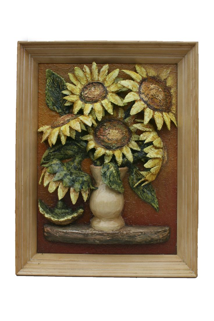 Finished version of the Sunflower vase painting. Front view (HQ)