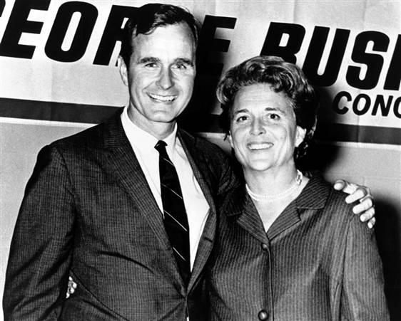 George Bush & Barbara Bush. Love this couple!