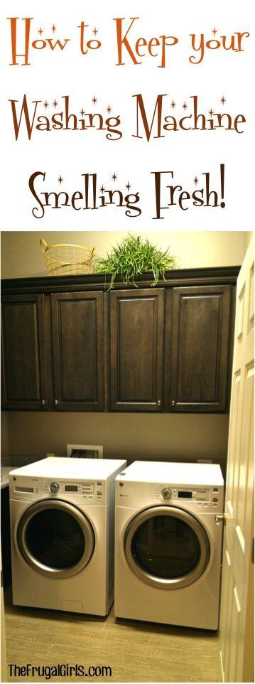 My favorite EASY tricks to Keep Your Washing Machine Smelling Fresh! | TheFrugalGirls.com
