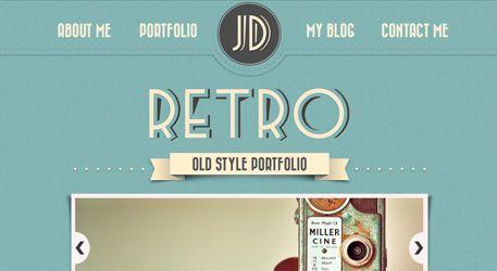 Web Design: Retro Portfolio
