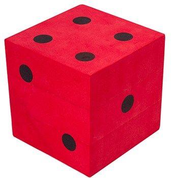 Red Foam Die with Black Dots