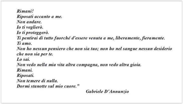 """#PoesiaeVita #PoesiAmo   Gabriele D'Annunzio """" Rimani """""""