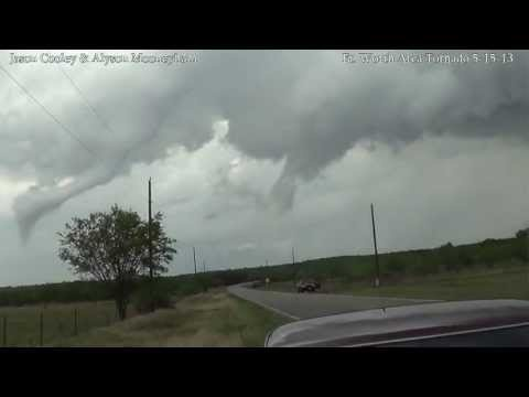 One Texas resident captured a hail storm as it pounded DeCordova, Texas just before a major tornado hit Granbury, Texas on Wednesday.