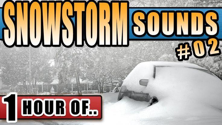 COLD BLIZZARD SOUNDS, COLD WINTER SOUNDS, SNOW STORM SOUND Sleep snowsto...