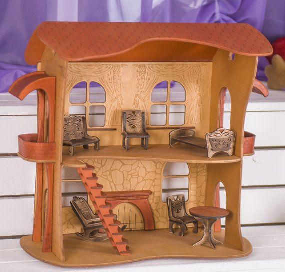 25 unique wooden dollhouse kits ideas on pinterest diy for Unique doll houses