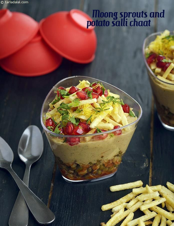Moong Sprouts and Potato Salli Chaat