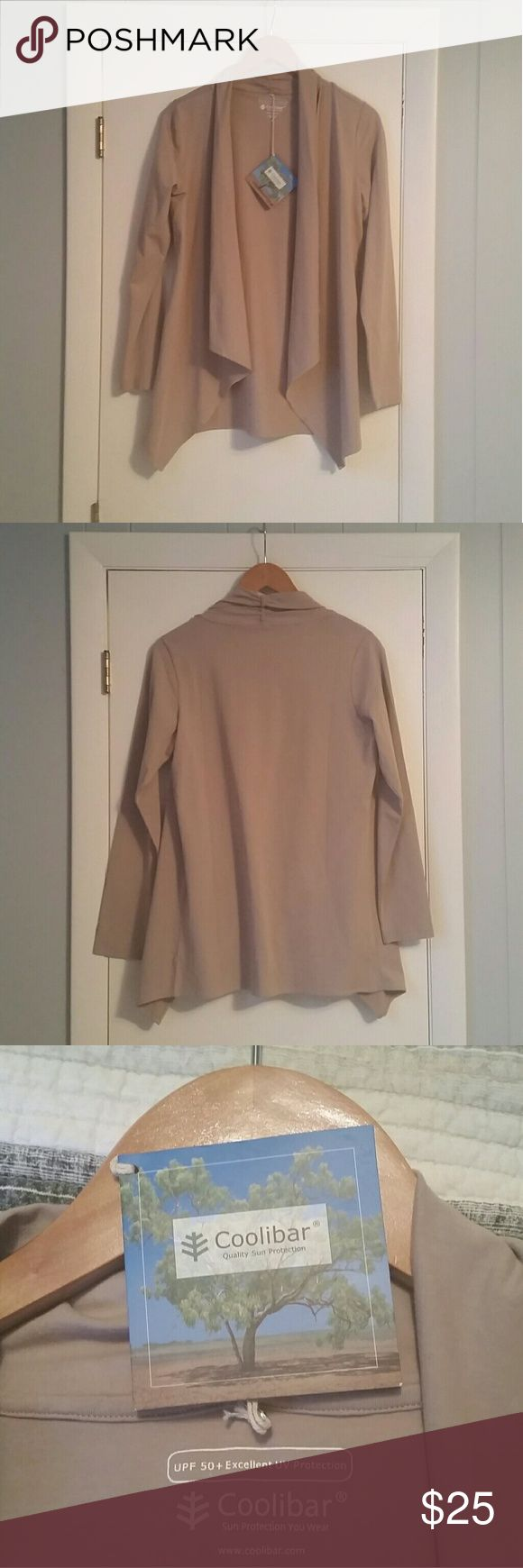 Women's Coolibar Open Cardigan Women's Coolibar Open Cardigan, Size Small, UPF 50 + Excellent UV Protection.  New with tags. Coolibar  Tops