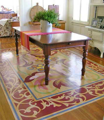 Vinyls awesome and hand painted on pinterest for Painted vinyl floor ideas