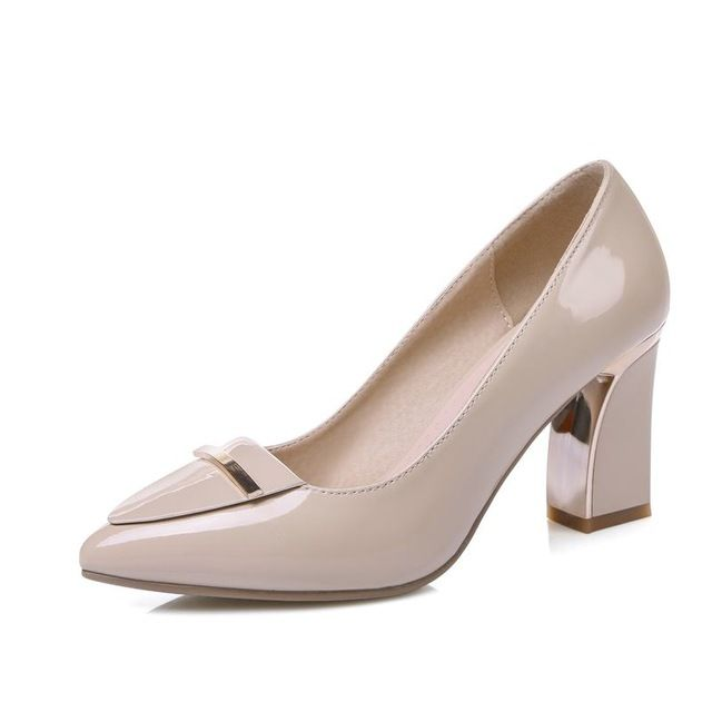 ASUMER High heels large size 33-41 office shoes pointed toe square heels slip-on women pumps sequined black apricot lady shoes >>> Continue with the details at the image link. #WomenPumps