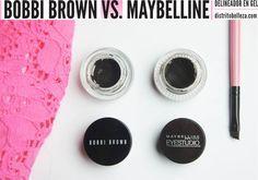Delineador en gel Bobbi Brown vs. Maybelline
