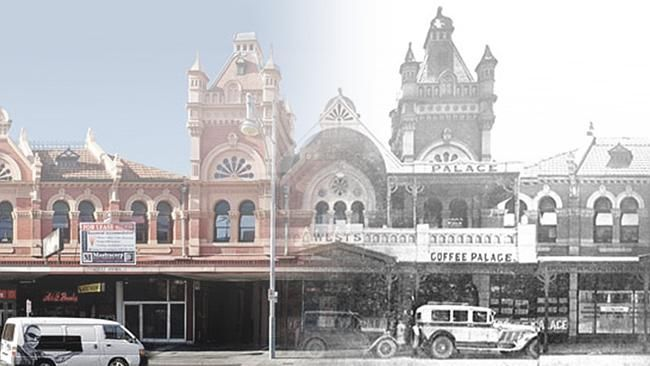 The Adelaide Fruit and Produce exchange in Adelaide's East End, then, and the scene as it is today. ...