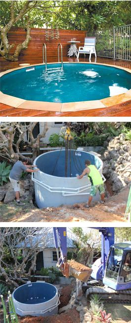 plunge pool ...  neato ... but just the thought of another backhoe in the yard again ... :(