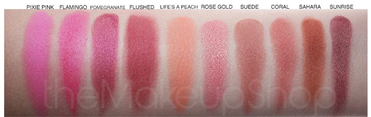 My favorite blushes come from Sleek Makeup. It's a UK brand. I own Pixie Pink, Flushed, Life's A Peach, Rose Gold & Sunrise. <3