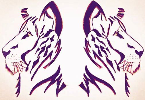 """The Reflection of the Lion, is an edited sketch up created with pencil and ink and then edited digitally is a more visually emotional piece for the artist behind Urban Designs. It shows the definition of what the Oracle Tarot cards would consider to be Death. """"The destruction of what was, to create a path of renewal"""".   The lion, king of the jungle – shows the power and majesty of the animal's image in stencil form. As a reflection on the artistic and design inspiration of the power of…"""