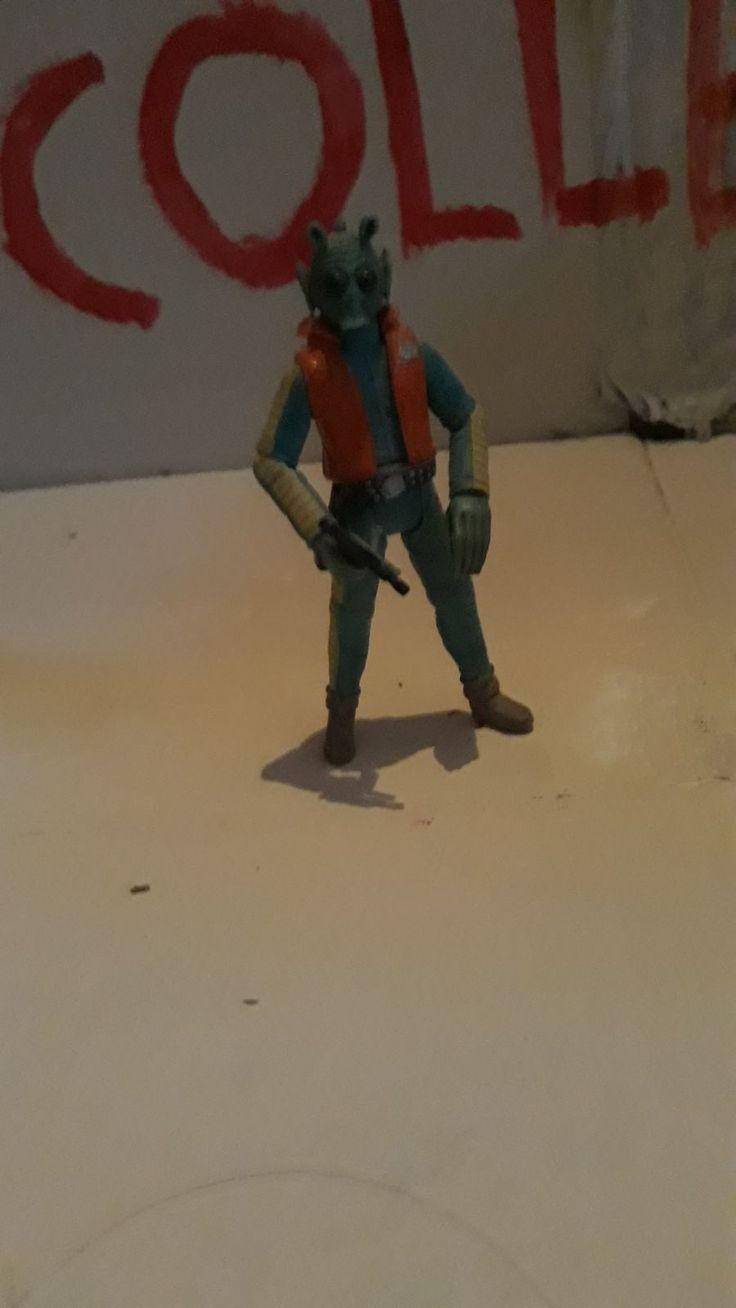 BIKER SCOUT Vintage Kenner Star Wars Action Figure ORIGINAL ART PRINT 3.75 ROTJ
