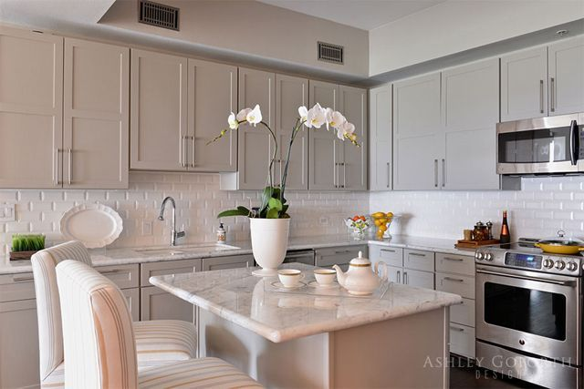 Taupe Color Kitchen Cabinets