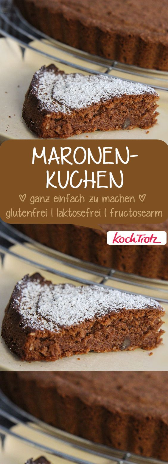 Lecker und total einfach zu machen ist dieser Maronenkuchen. Einer meiner Lieblingsuchen im Herbst und Winter. #maronenkuchen
