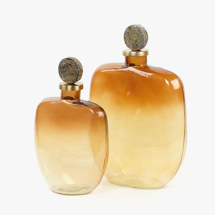 GarrafaAmber33 cm (referência 119170962) e Garrafa Amber 40 cm (referência 119170963) | A Loja do Gato Preto | #alojadogatopreto | #shoponline