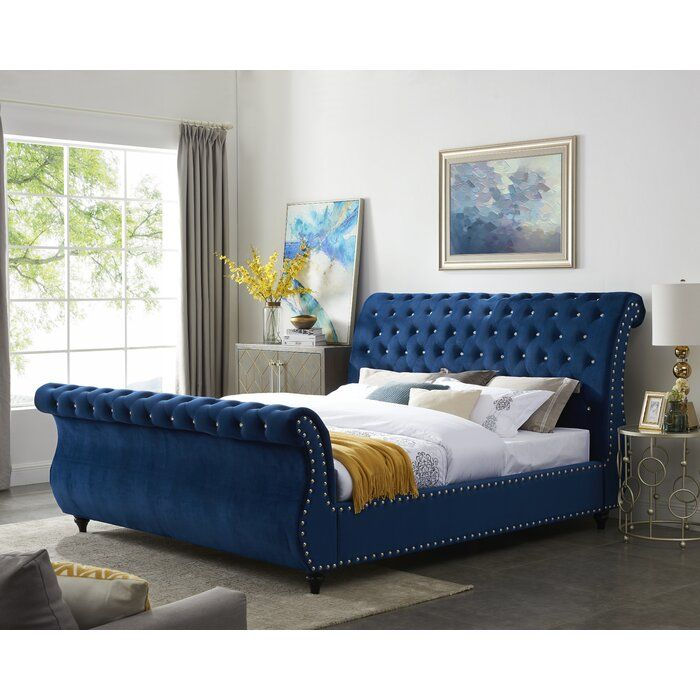 Matos Tufted Upholstered Sleigh Bed Sleigh Beds Upholstered
